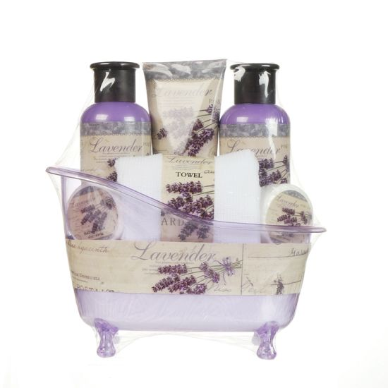 Wholesale Lavender Shower Gel Bath Gift Set in Bathtub