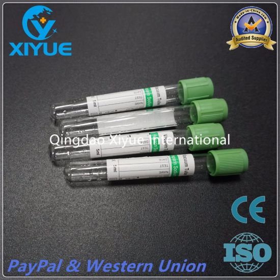 Medical Disposable Vacuum Blood Collettion Sodium Heparin Tube with Ce&ISO