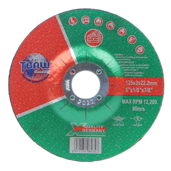 China Factory OEM 125 mm Power Tools Cutting Disc Cut off Abrasive Grinding Wheel Disc for Stone Polishing