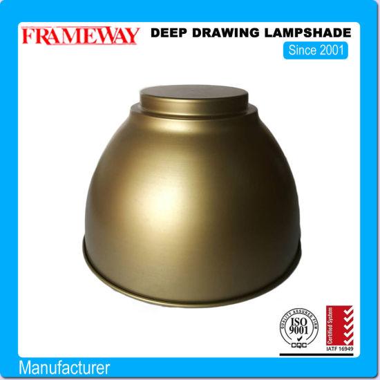Fabrication Metal Stamping Parts Deep Drawing Parts Lampshade with Powder Coating