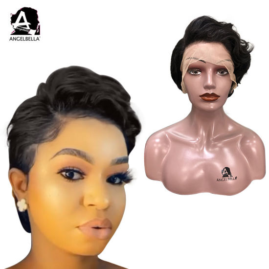 Angelbella Lace Front Human Hair Summer Hair Short Lace Wigs 150 Density Natural Black Brazilian Short Remy Hair Lace Front Wig For Women China Human Hair Wigs And Brazilian Hair Wigs