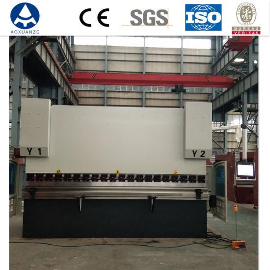 Hydraulic Metal Plate Bender 4+1 Axis / Auto CNC Bending Sheet / Steel Press Brake Machine