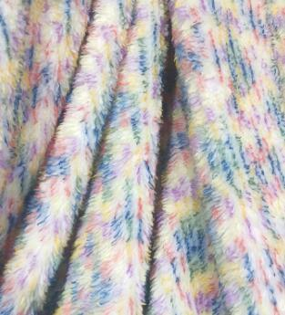Colorful Sherpa Fleece Double Ply Thick Blanket Throw