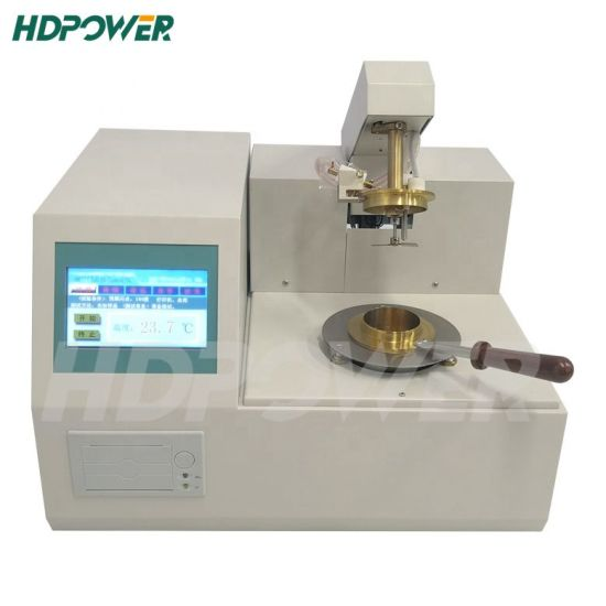 China Manufacturer Automatic Portable Oil Open/Closed Cup Test Instrument Flash and Fire Point Tester Price Flash Point Tester for Oil Testing