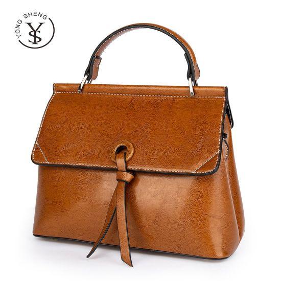 Fashion Bolsos Oil Wax Cowhide Leather Ladies Tote Bags Crossbody Women Handbags