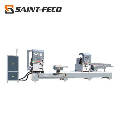 CNC Aluminum Window Door Profiles Double Head 45 and 90 Degree Cutting Machine