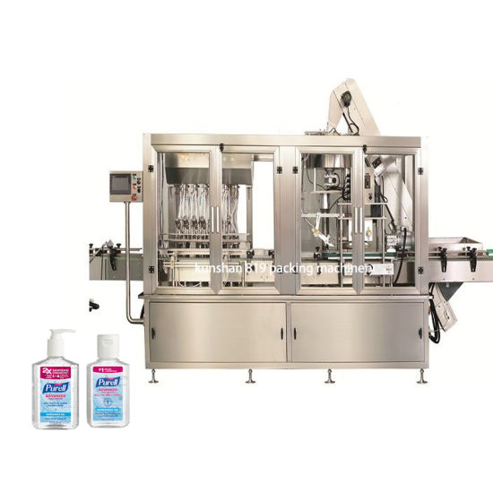 Hand Sanitizer Filling Capping Labeling Machine Disinfectant Spray Cleaner Bottling Machine