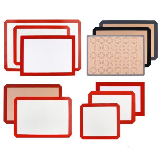 Food Grade Fiberglass Non Stick Silicone Macaron Baking Mat