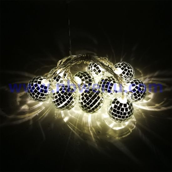 China Supplier 110V-240V Indoor Outdoor Decoration LED Disco Ball String Light pictures & photos