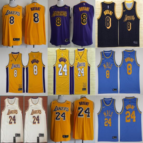 Los Angeles Lakers Bryant Stitched Putian Replica Basketball Jerseys