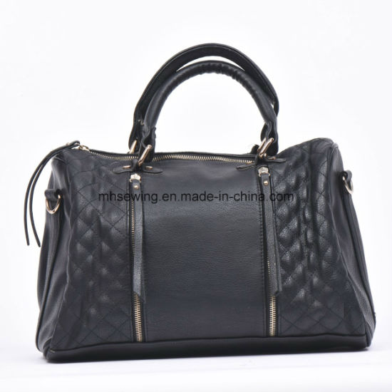 China Tassel Decoration Plain Grain Women Handbag Shoulder Bag