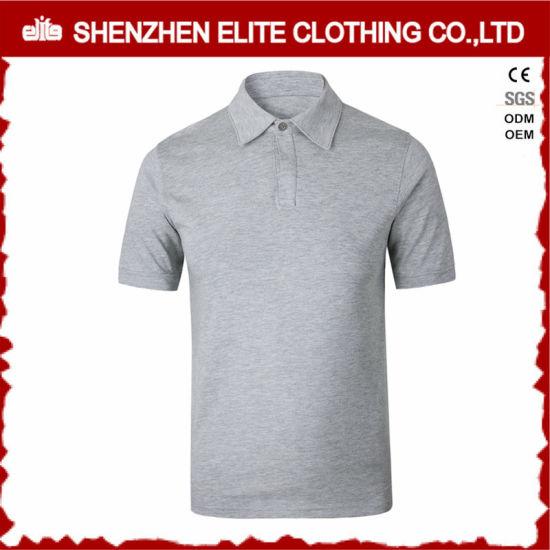 China Custom Logo High Quality Pique Polo Shirt Grey Eltpsi 49