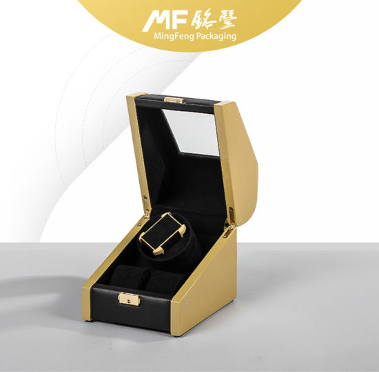 Technological Fashion MDF Golden&Black Watch Gift Case pictures & photos
