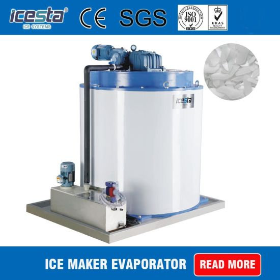 8 Tons/Day Flake Ice Evaporator Drum with Ce