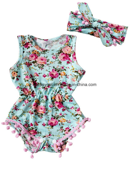 438d1be9b China Baby-Girls Sleeveless Tassel Romper + Headband Esg10181 ...