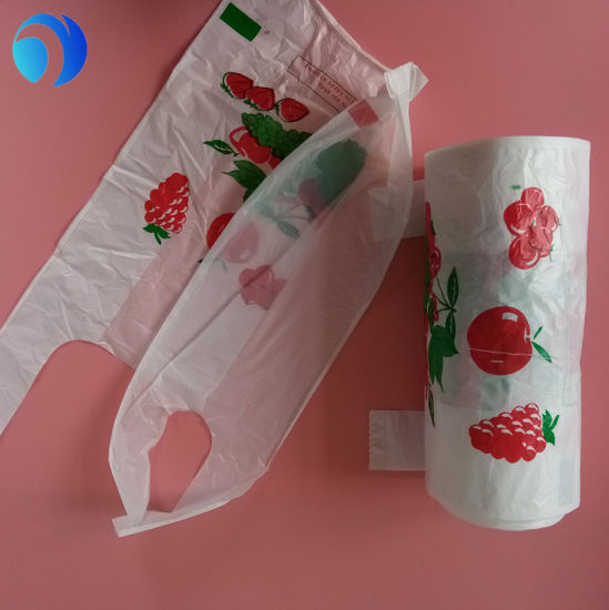 Custom HDPE Shopping Packaging Compostable Epi PLA Corn Starch 100% Oxo  Biodegradable Plastic T-Shirt Bags