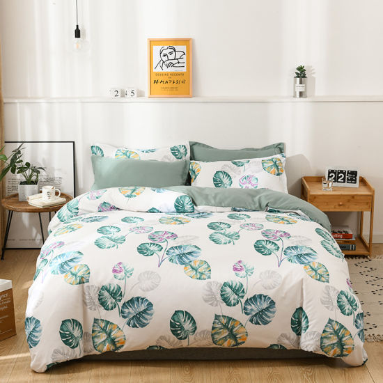 Wholesale Printed Comforters Microfiber Bed Sheet Quilt Cover Bedding Set