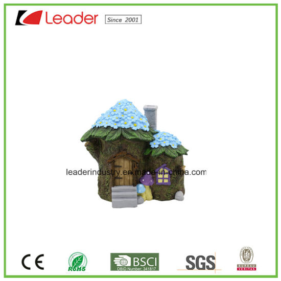 New Fairy Garden Resin Grass House Statue for Dollhouse Decoration pictures & photos