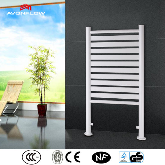 China Avonflow White Towel Dryer Free Standing Bath Towel Rack