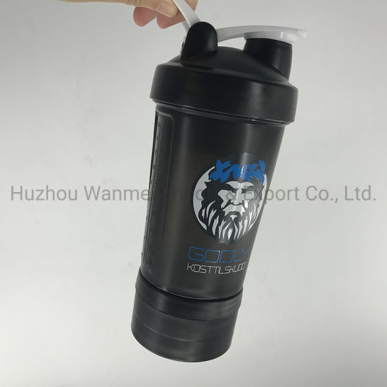 High Performance Eco-Friendly PP Plastic Protein Sports Shaker Drink Bottle