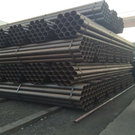 ERW Welding Black Round Pipe Greenhouse Structure Pipe Large Diameter Black Steel Pipe pictures & photos