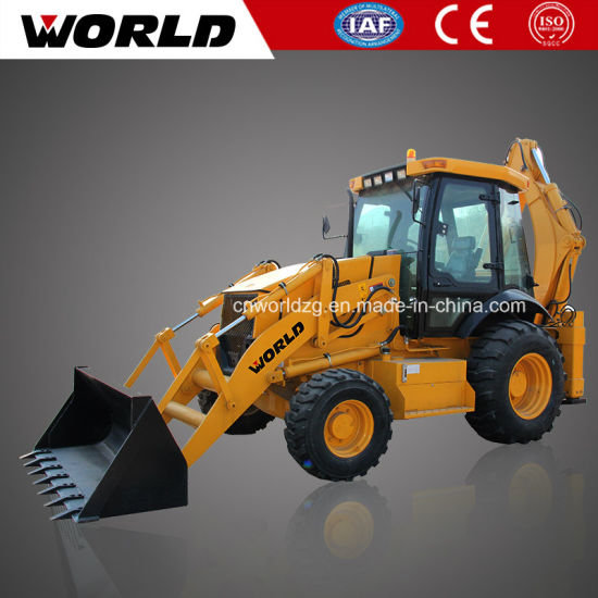 4 Wheel Drive Backhoe Loader with 1m3 Bucket (WZ30-25C) pictures & photos