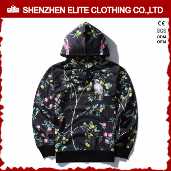 Fashion Knitting Men Polyester Hooded Sweater Pullover (ELTHSJ-951)