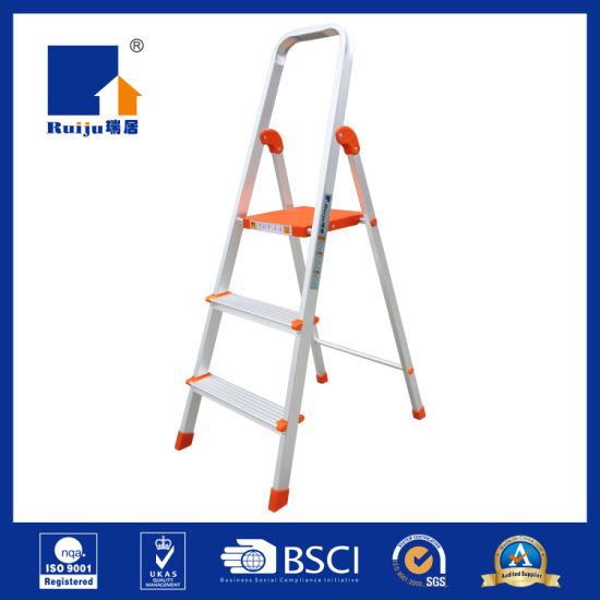 New Wide Household Aluminum Ladder for Daily Use pictures & photos