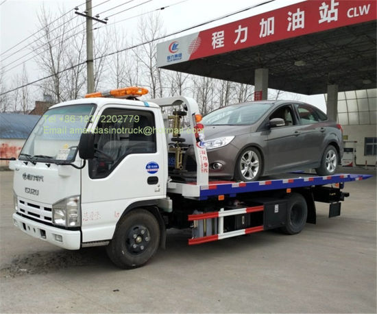 China Isuzu High Quality Cars Carrier Road Wrecker Small Tow
