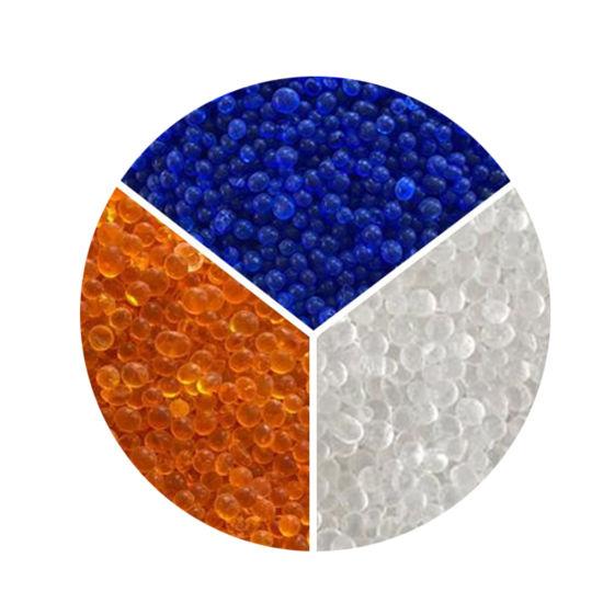 Blue White Orange Color Desiccant Silica Gel