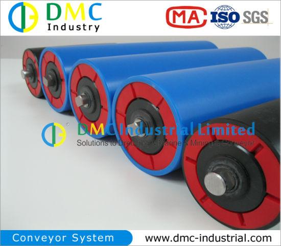 114mm Diameter Conveyor System HDPE Conveyor Idler Black Conveyor Rollers pictures & photos