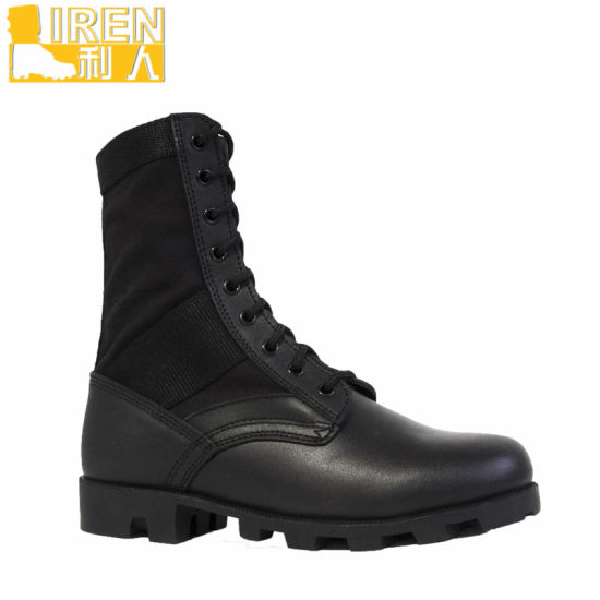 Goodyear Welt Black Cheap Military Jungle Boots