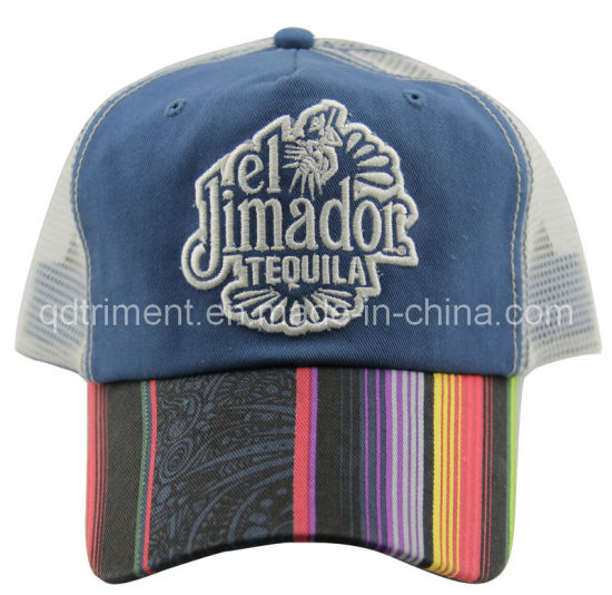 Constructed Applique Embroidery Print Sport Mesh Trucker Hat (TRT13005)