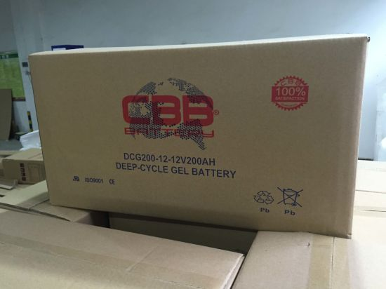 12V 200ah Deep Cycle Gel Battery for RV / Marine pictures & photos