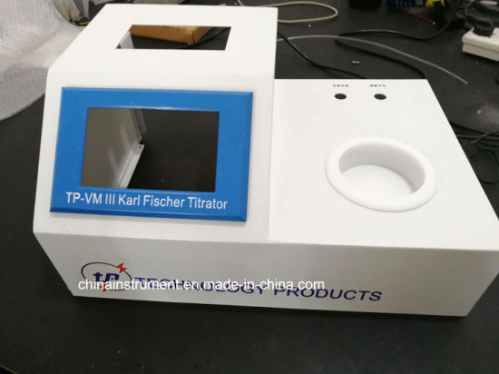 Automatic Coulometric Kf Karl Fischer Titrator for Water (moisture) Determination