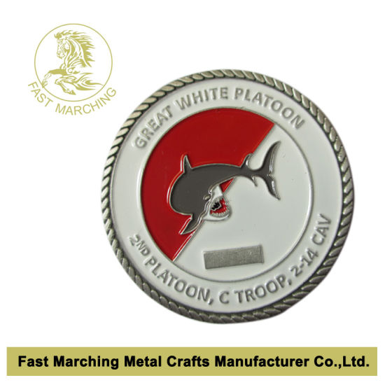 China Custom Souvenir Military Challenge Coins with Flat Curved