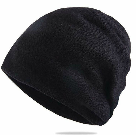 Custom Blank Beanie Knitted Hat Thick Wool Mens Skull Cap pictures & photos