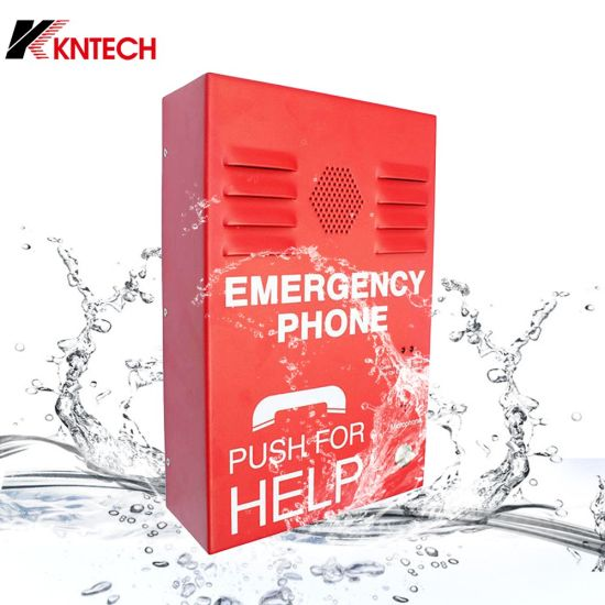 One Button for Emergency Knzd-38 Intercom Stainless Weatherproof Telephone