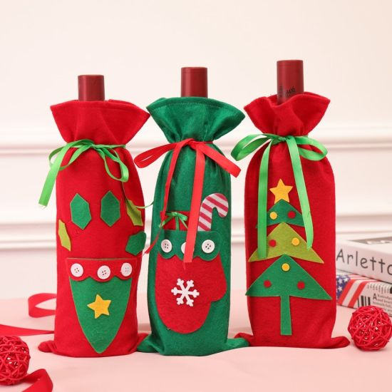 Champagne Wine Bag Christmas Candy Bag Christmas Supplies