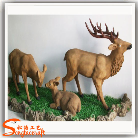 2018 New Realistic Fawn Figure Artificial Animal Crafts for Decoration