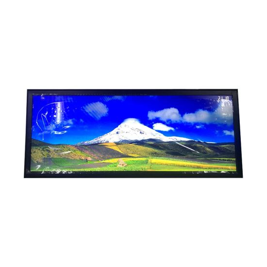 28 Inch LCD Digital Advertising Ad Display Stretched Panel for Shelves