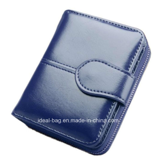 Custom Cheap Price Women PU Leather Pocket Purse Wallet, Fashion Travel Lady Designer Zip Coin Purse Card Holder Wallet pictures & photos
