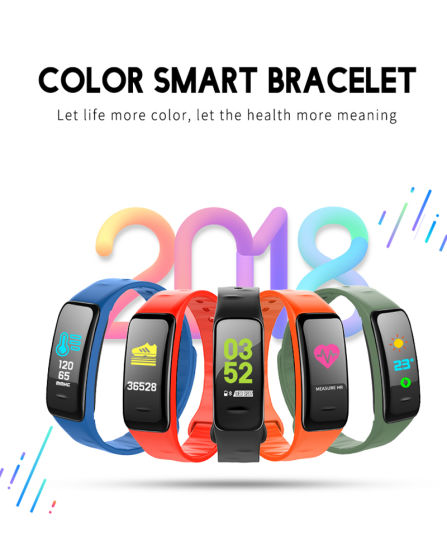 C1 Plus Smart Sport Smart Bracelet Fitness Tracker Heart Rate Monitor Watch  Blood Pressure Pedometer Smartband for Android Ios