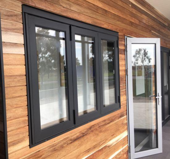 ISO SGS Aluminium Sliding Weather Proof Large Glass Sash Windows