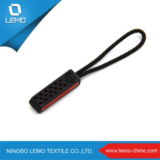 Custom Cord Plastic PVC Rubber Zipper Puller for Garments