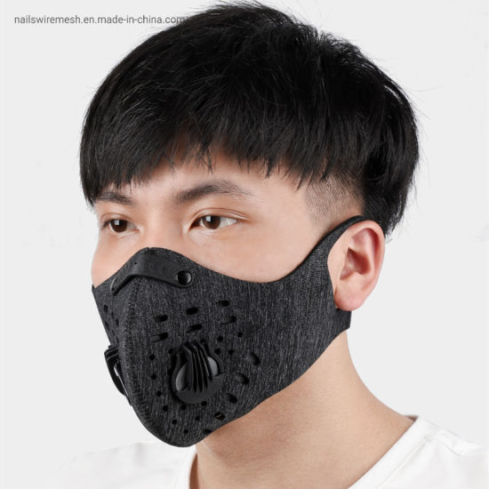 5 layers activated carbin filter sporting mask cycling face mask in stock