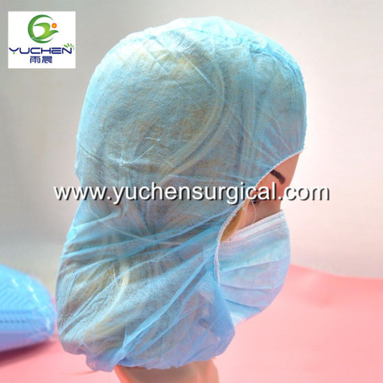 0fd5d0919b6 China Disposable Non-Woven Surgical Balaclava Hood with Face Mask ...