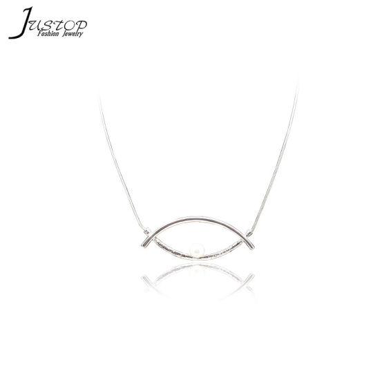 China Devil Eye Shell Pearl Pendant Silver Color Simple Design