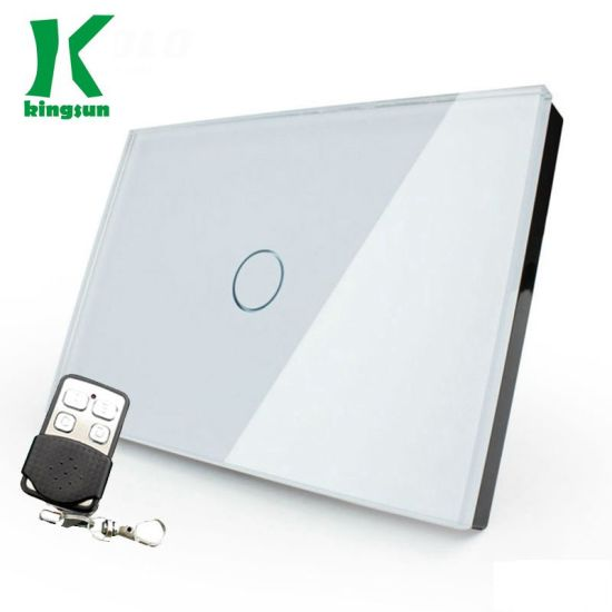Us Remote Zigbee Touch Switch 1gang1way White Glass Panel Type