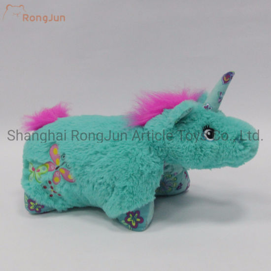 Good Special Color Plush Unicorn Cushion pictures & photos